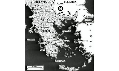 Drogi ataku aliantów na zajęty przez Niemców Peloponez. Fot. GettyImages