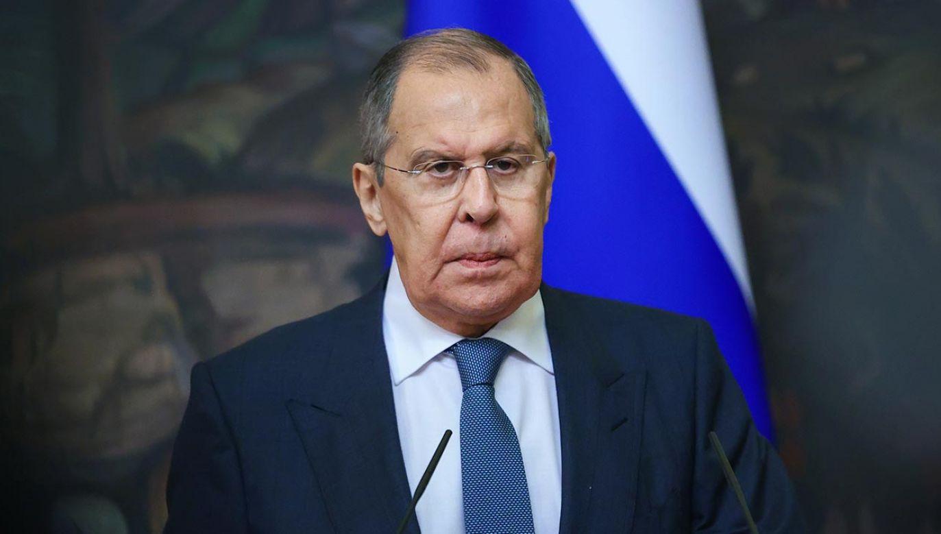 Szef MSZ FR Siergiej Ławrow ogłosił decyzję (fot.  Russian Foreign Ministry\TASS via Getty Images)