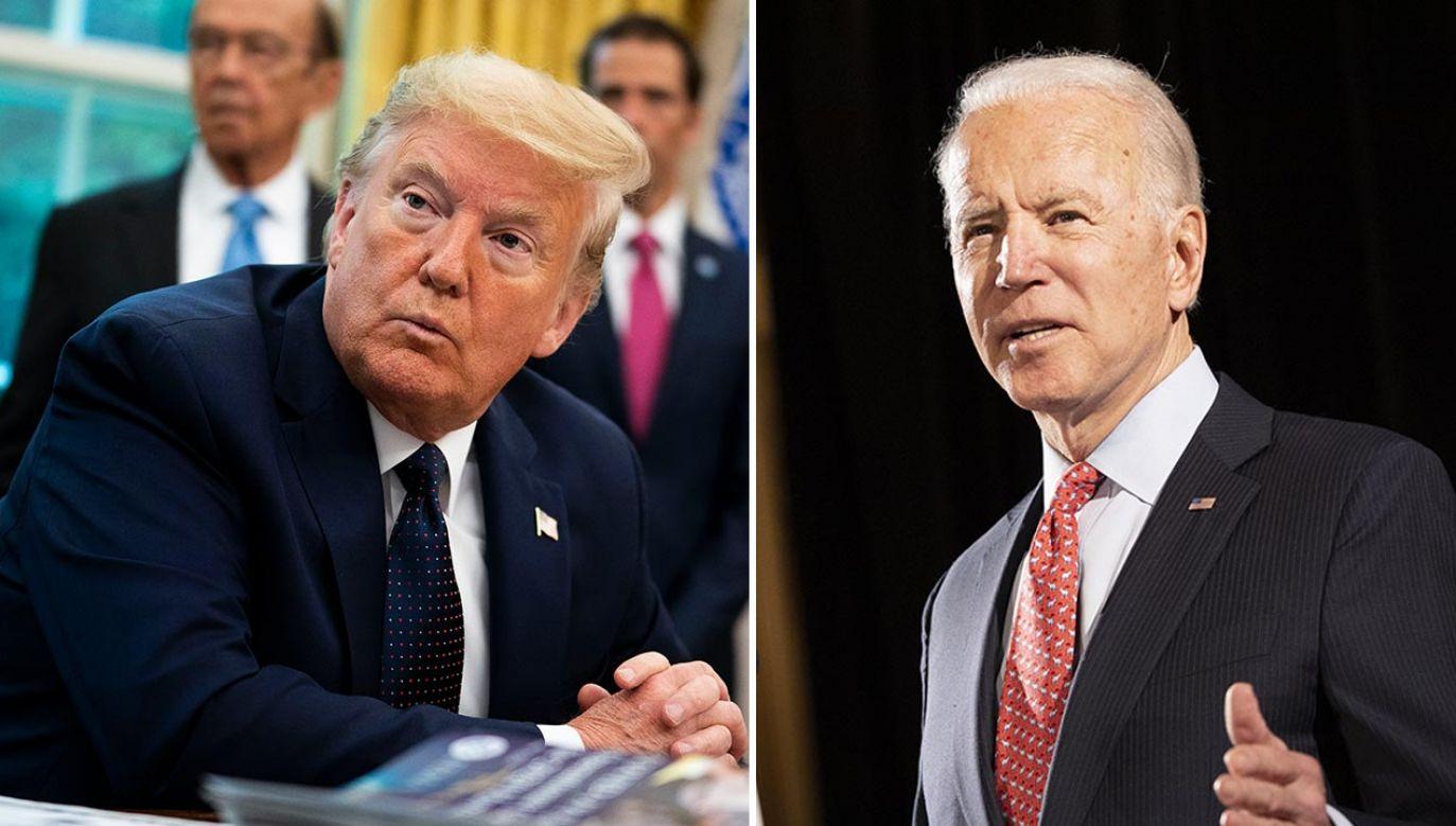 Sprawa dotyczy kampanii wyborczej w USA (fot. Doug MIlls-Pool/Getty Images; Ryan Collerd/Bloomberg via Getty Images)