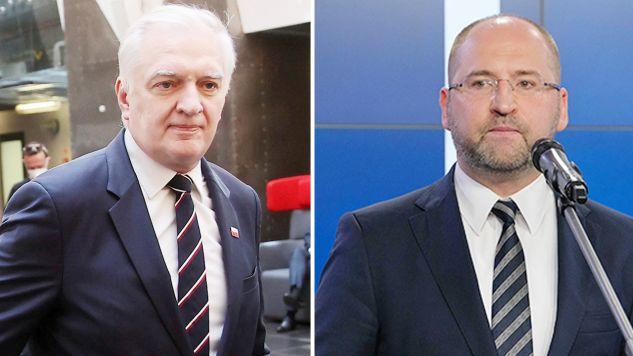 Jarosław Gowin (z lewej) i Adam Bielan (fot. PAP/Łukasz Gągulski; Mateusz Marek)