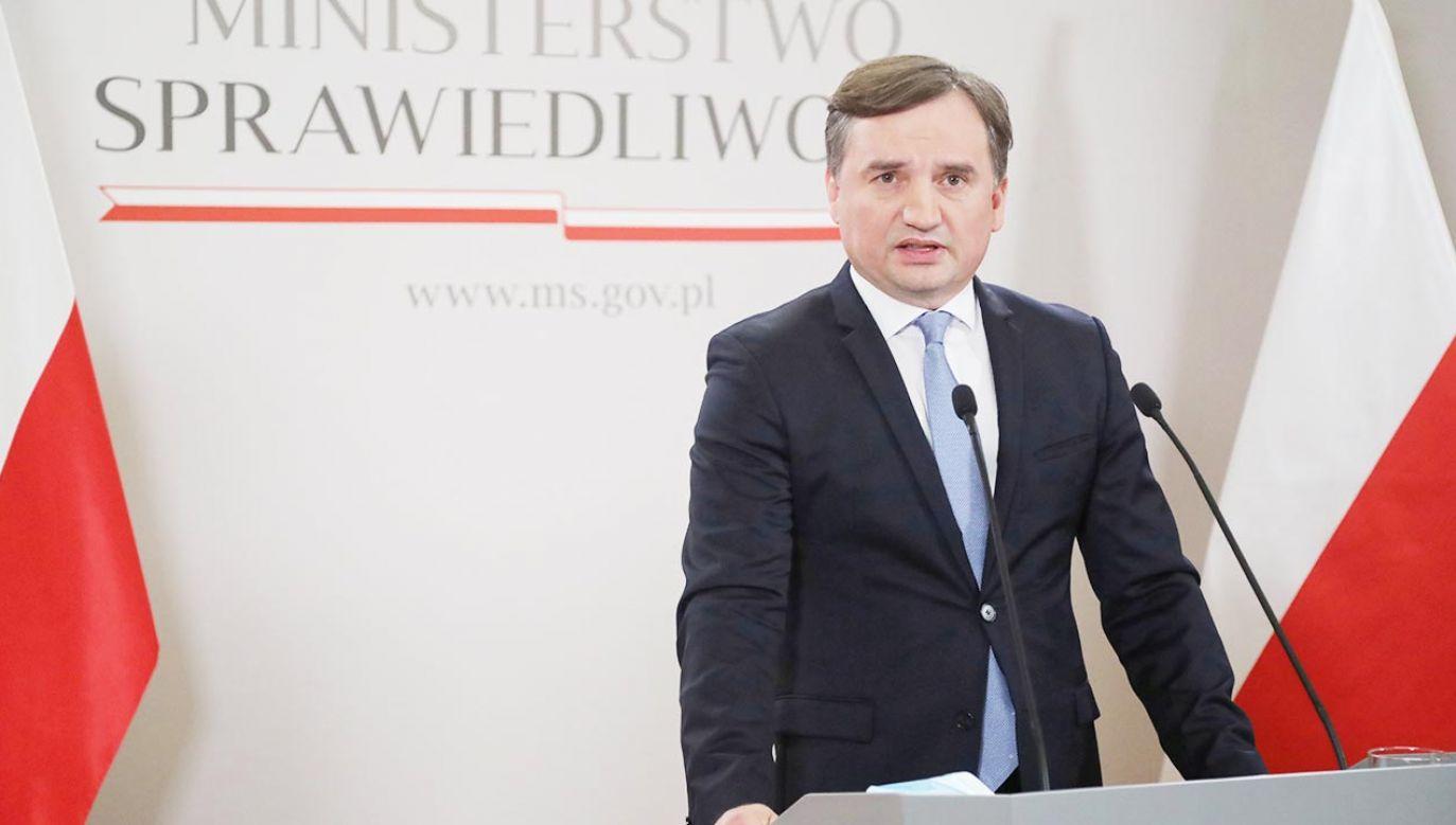 Zbigniew Ziobro nt. kopalni Turów (fot. PAP/Wojciech Olkuśnik)
