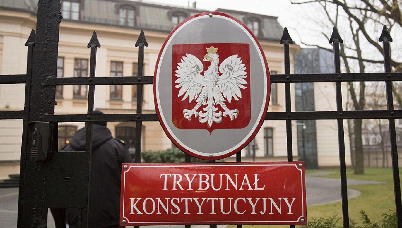 Treść zamieszczono na stronie Trybunału Konstytucyjnego (fot. Mateusz Wlodarczyk/NurPhoto via Getty Images)