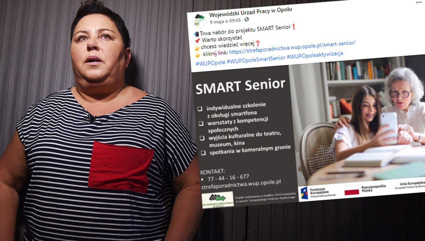 Finałem projektu będzie kameralne spotkanie z Dorotą Wellman (fot. Forum; Wojewódzki Urząd Pracy w Opolu)