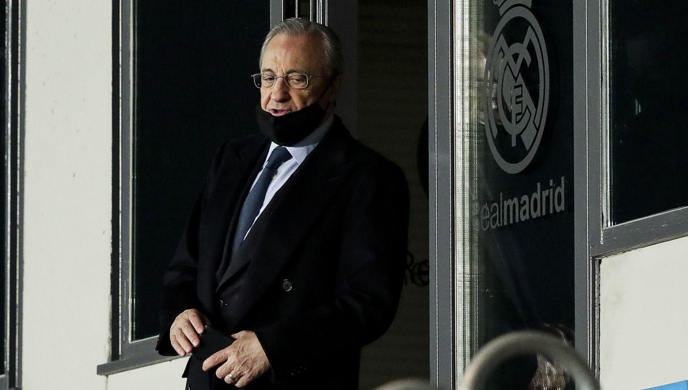 Florentino Perez to jeden z największych przegranych w związku z fiaskiem Superligi (fot. Getty Images)