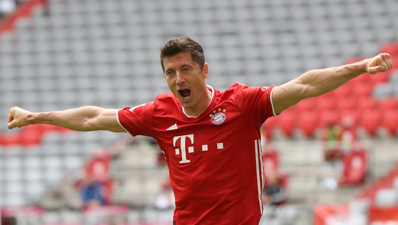 Robert Lewandowski strzelił gola przeciwko SC Freiburg, a Bayern wygrał 2:1 (fot. Getty)