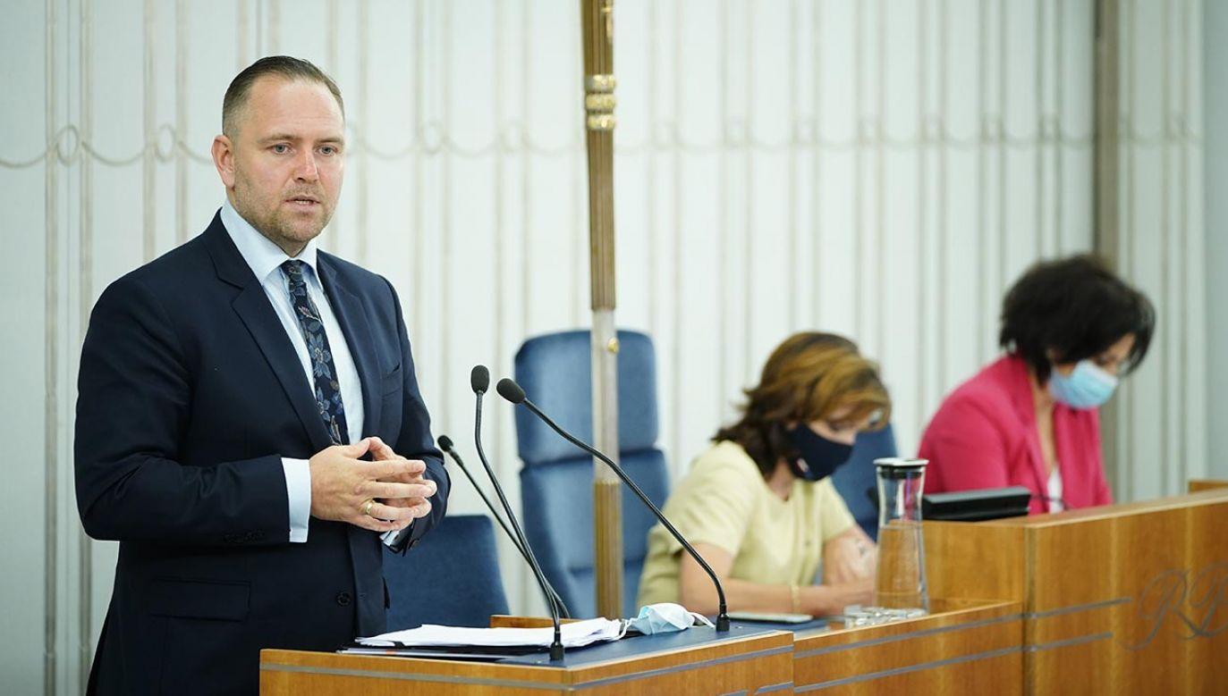 Ślubowanie na prezesa IPN (fot. Forum/Mateusz Wlodarczyk)