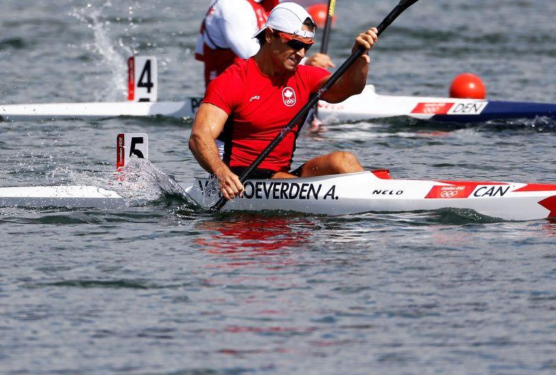 Kanadyjczyk Adam van Koeverden w rywalizacji K1 na 1000 metrów (fot. Getty Images)