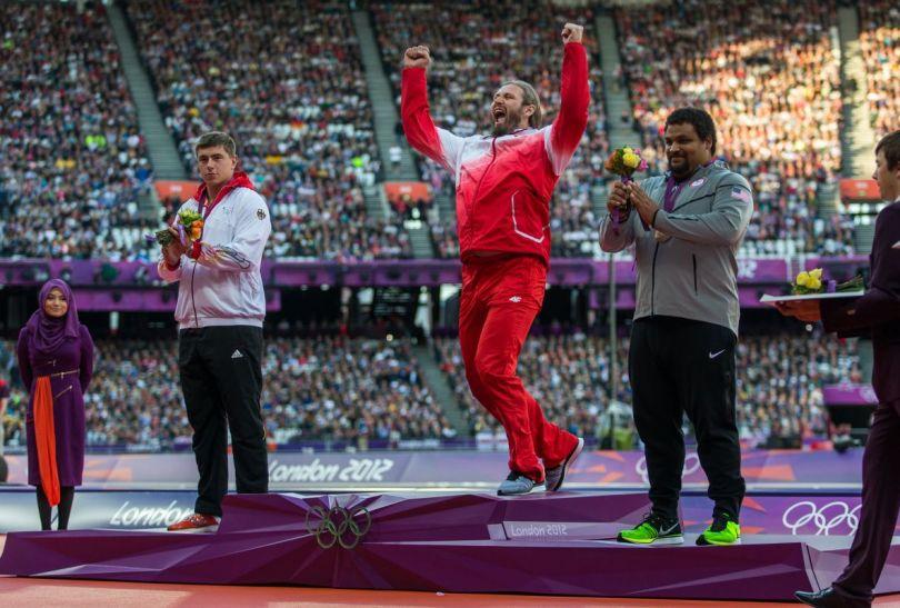 Tomasz Majewski wskoczył na najwyższy stopień podium (fot.PAP/EPA)
