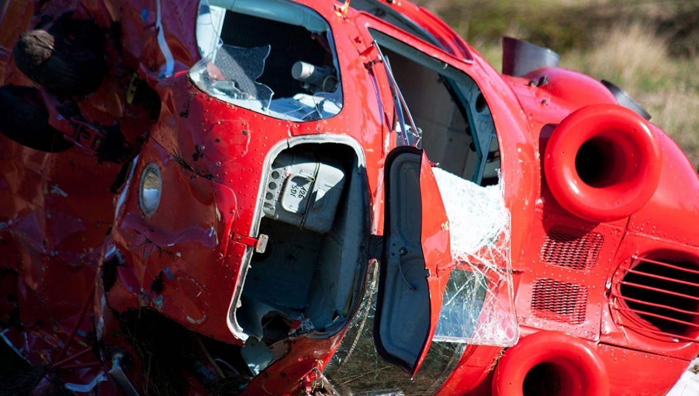 Z niewiadomych przyczyn maszyna gwałtownie runęła na ziemię (fot. PAP/Jan Dzban, zdjęcie ilustracyjne)