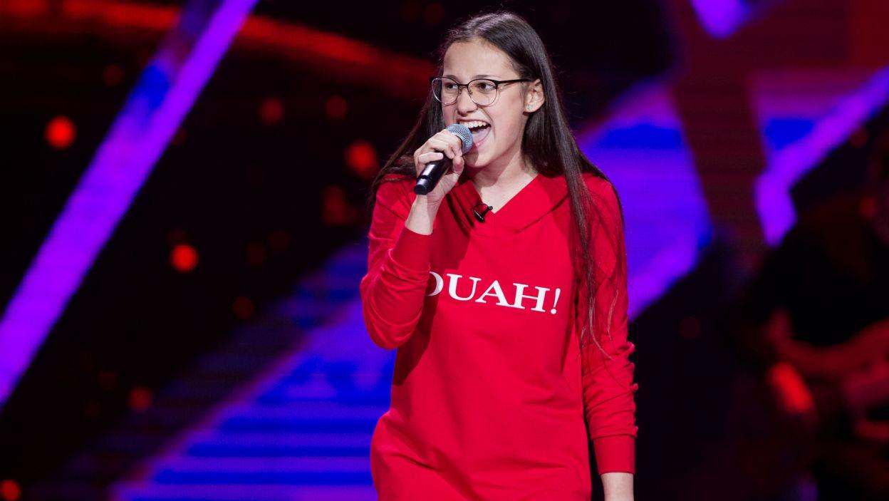 Natalia to bardzo energiczna dziewczyna. Było to widać zarówno podczas występu, jak i po nim (fot. TVP)